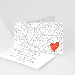 Faire-Part Mariage Personnalisés - Coeurs dessinés - 1