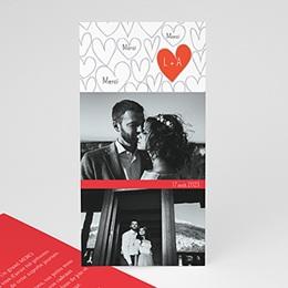 Remerciements Mariage Personnalisés - Coeurs dessinés - 1