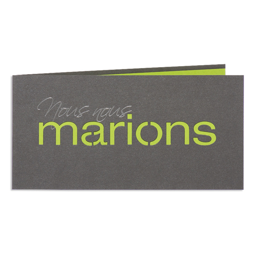Faire-Part Mariage Traditionnel - Marions - Vert 24446