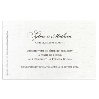 Cartons d'Invitation traditionnels - Lunch Croco - 1
