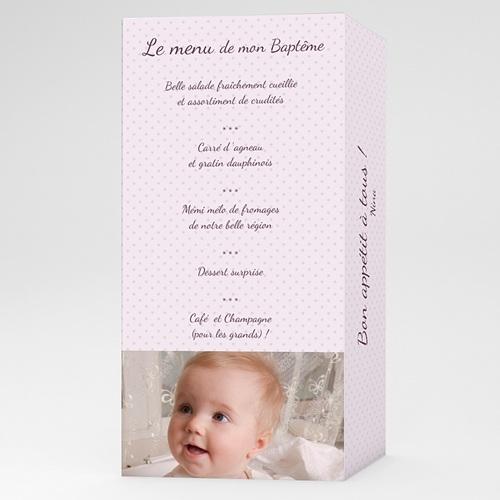 Menu de Baptême - Lilas 24598