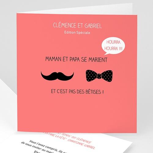 Faire-Part Mariage Personnalisés - Oui familial 24615