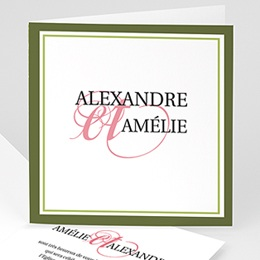 Faire-part Mariage Personnaliss - Mariage Printanier - 3