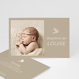 Faire-part Baptême Fille - Prince Charmant - Carte photopersonnalisable - 3