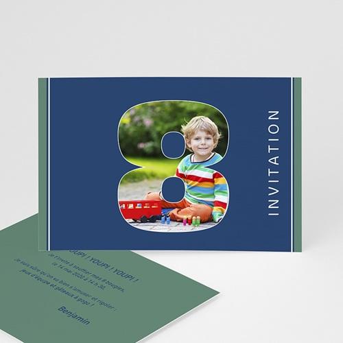 Invitations Anniversaire Garçon - Composez votre âge 2756
