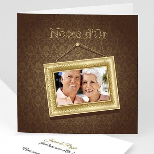 invitations anniversaire mariage noces dor 50 ans 2764 - Texte 50 Ans De Mariage Noces D Or