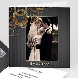 Invitations Anniversaire Mariage - Noces de Platine - 70 ans - 3