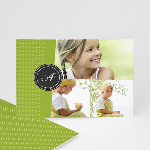 Cartes Multi-photos 3 & + -  Bande Vert printemps 277