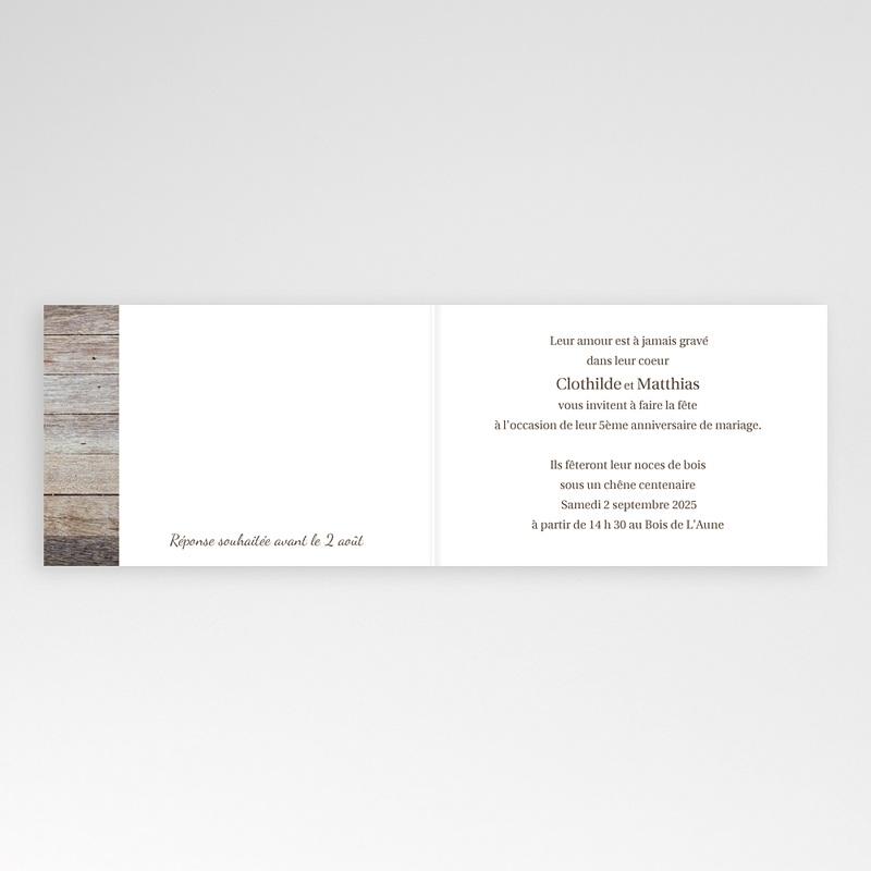 invitations anniversaire mariage noces de bois 5 ans 2785 thumb - Texte Invitation 50 Ans De Mariage Noces D Or