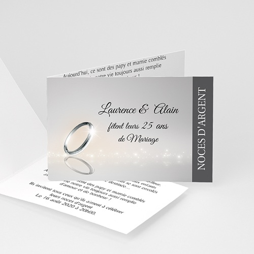 invitation anniversaire mariage noces argent 25 ans. Black Bedroom Furniture Sets. Home Design Ideas