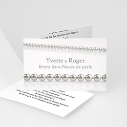 Invitations Anniversaire Mariage - Noces de Perle - 30 ans Mariage - 3