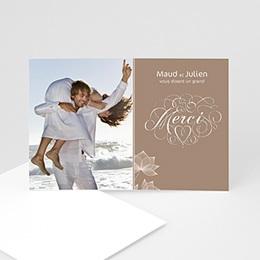 Remerciements Mariage Personnalisés - Elégance chocolat - 3