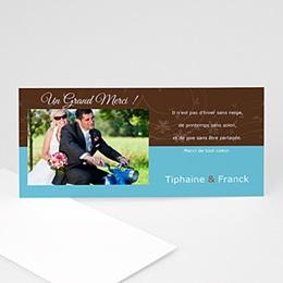 Remerciements Mariage Personnalisés - Chocolat et Turquoise - 3