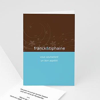 Menu Mariage Personnalisé - Chocolat et Turquoise - 3