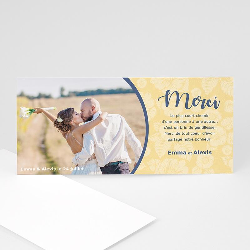 remerciements mariage personnaliss remerciements fleuris 3 - Remerciement Mariage