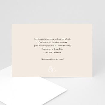 Cartons d'Invitation Personnalisés - Alliance de deux Coeurs - 3