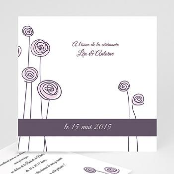 Cartons d'Invitation Personnalisés - Mariage en blanc et rose - 3
