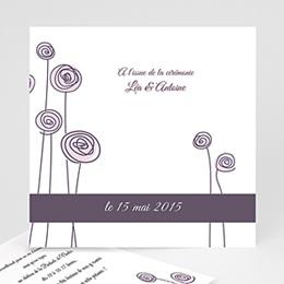 Carton Invitation Personnalisé - Mariage en blanc et rose - 3