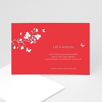 Cartons d'Invitation Personnalisés - Fleurs d'amour - 3