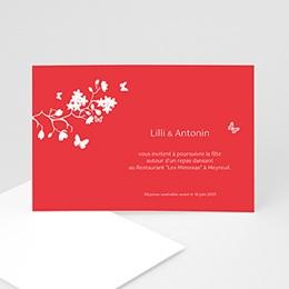Carton Invitation Personnalisé - Fleurs d'amour - 3