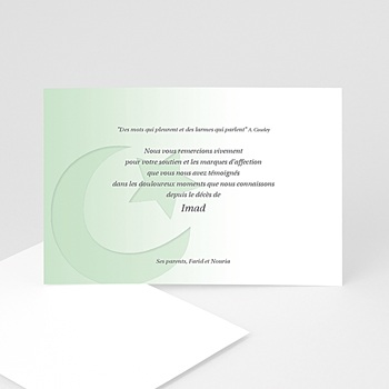 Remerciements Décès Musulman - Shâhâda - carte remerciements - 3