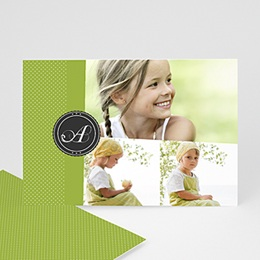 Cartes Multi-photos 3 & + - Multi photo 3 - Ruban Vert - 3