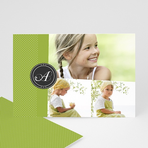 Cartes Multi-photos 3 & + - Multi photo 3 - Vert printemps 317