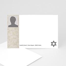 Remerciements Décès Juif - Yahrzeit - hommage posthume - 3