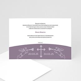Remerciements Décès Chrétien - Rappel à Dieu - carte décès enfant - 3