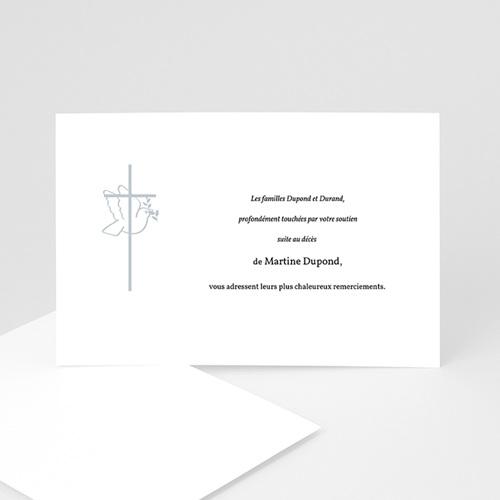 Remerciements Décès Chrétien - Colombe - cadre gris 3282