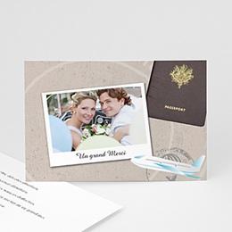 Remerciements Mariage Personnalisés - Invitation au voyage - 3