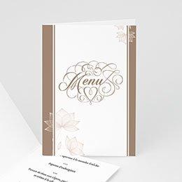 Menu Mariage Personnalisé - Elégance chocolat - 3