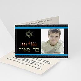 Faire-part Bar-Mitzvah - Bar-Bat mitsvah - Marron - 3