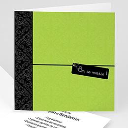 Faire-Part Mariage Personnalisés - Save-the-date - Vert Pomme - 3
