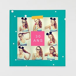 Livre-Photo Carré 30 x 30 - Anniversaire Flashy - 1