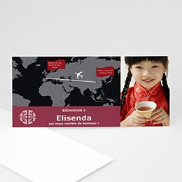 Faire-part Adoption Fille - Bonheur de Chine - 3