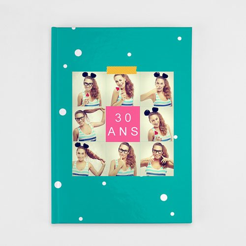 Livre-Photo A4 Portrait - Anniversaire Flashy 35900