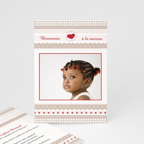 Faire-part Adoption Fille - L'Amour grandissant 3630