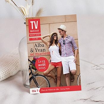 Faire-Part Mariage Personnalisés - TV Mariage - 0