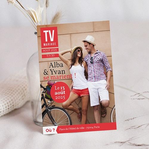 Faire-Part Mariage Personnalisés - TV Mariage 36600