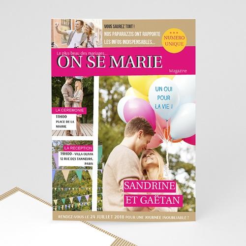 Faire-Part Mariage Personnalisés - Marions-nous 36603