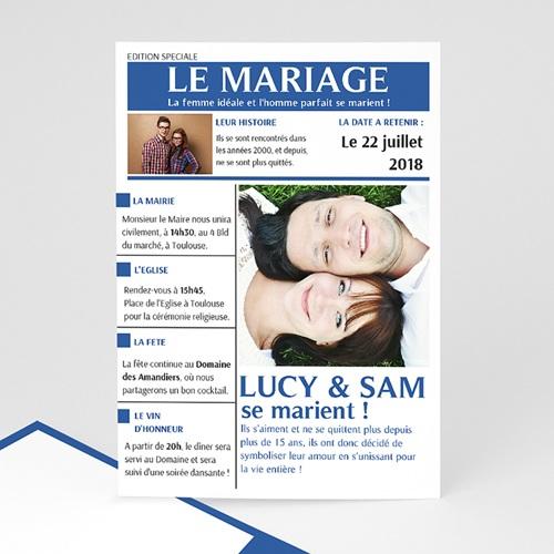 Faire-Part Mariage Personnalisés - Mariés 36609