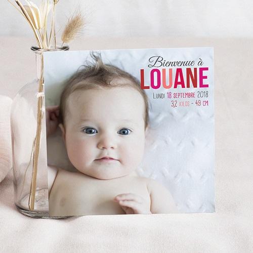 Faire-Part Naissance Fille - Douce Rosée 36618