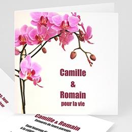 Faire-Part Mariage Personnalisés - Faire-part Mariage  - L'orchidée - 3