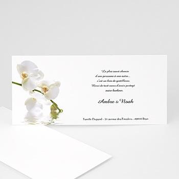 Remerciements Mariage Personnalisés - Mariage de l'eau et de l'orchidée - 3