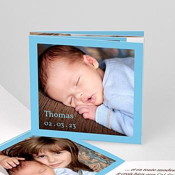 Faire-part Naissance Garçon - Ma carte bleue de Bébé - 3