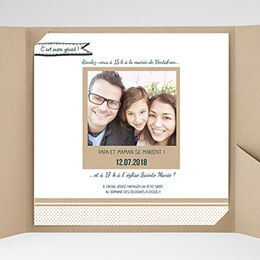 Faire-Part Mariage carré - Belle famille 37791