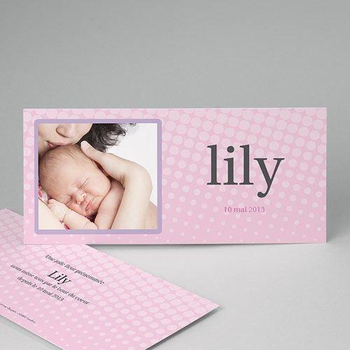 Faire-Part Naissance Fille - Lily Rose 3782