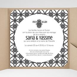 Faire-Part Mariage Pochette carré - Ispahan - 0