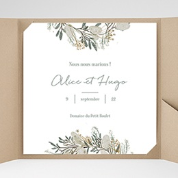 Faire-Part Mariage Pochette carré - Marions-nous ! - 0